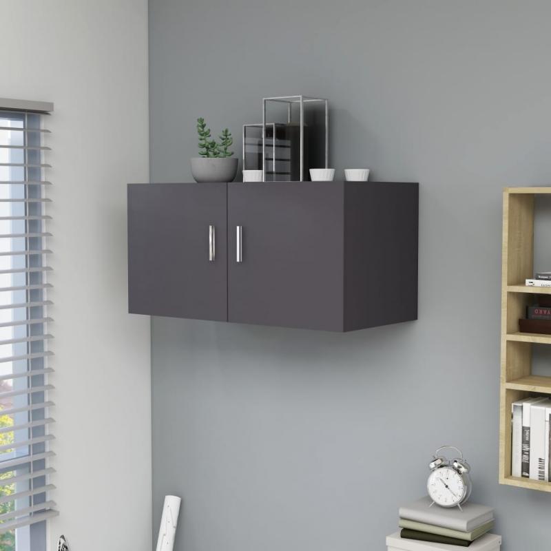 Wandschrank Grau 80 x 39 x 40 cm Spanplatte