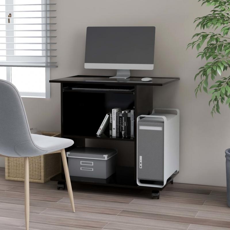 PC-Tisch Schwarz 80×50×75 cm Spanplatte