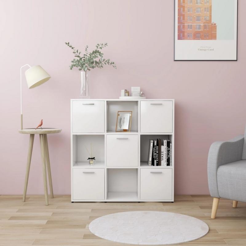 Bücherregal Weiß 90 x 30 x 90 cm Spanplatte