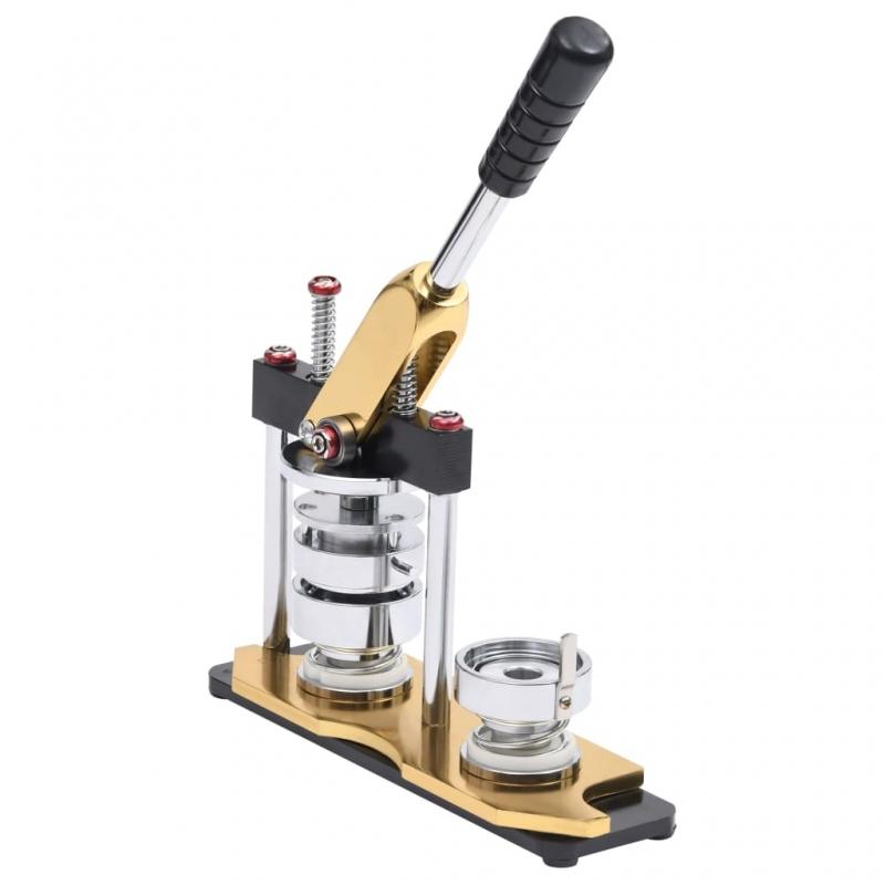 Buttonmaschine mit Kreisschneider Drehstanze 44 mm