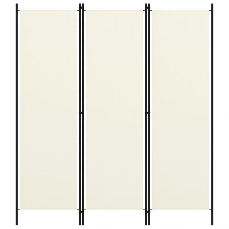3-tlg. Raumteiler Weiß 150x180 cm