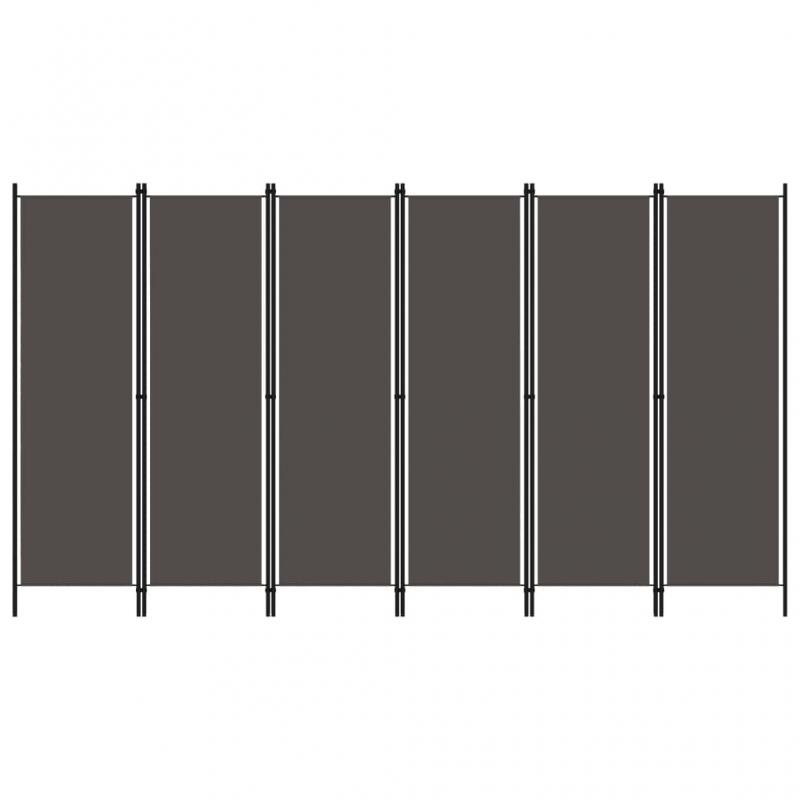 6-tlg. Raumteiler Anthrazit 300x180 cm