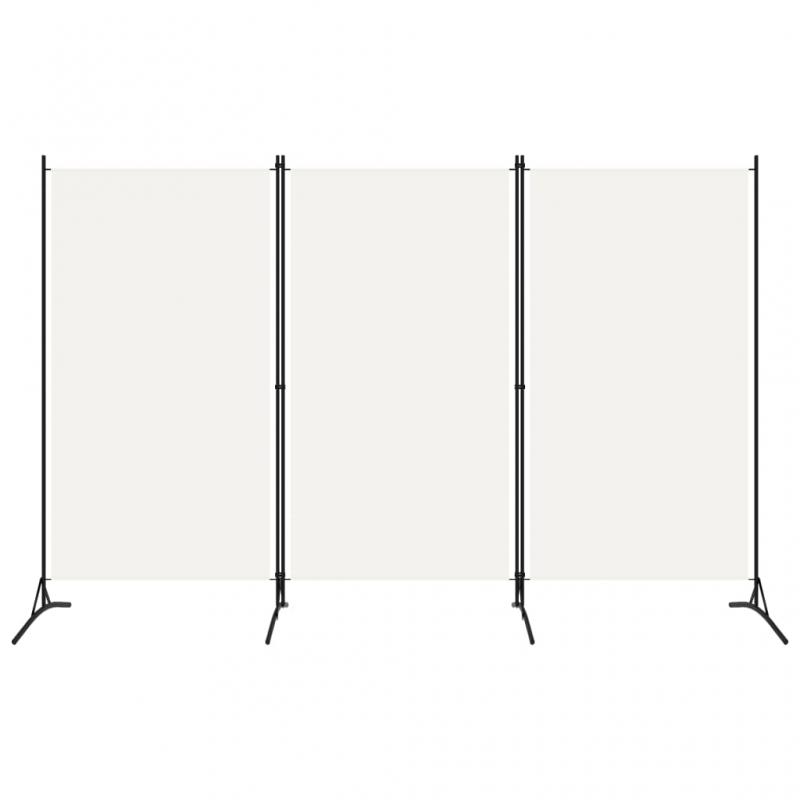 3-tlg. Raumteiler Weiß 260x180 cm