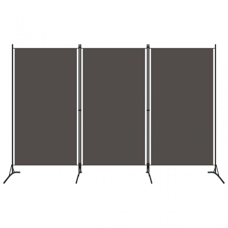 3-tlg. Raumteiler Anthrazit 260x180 cm