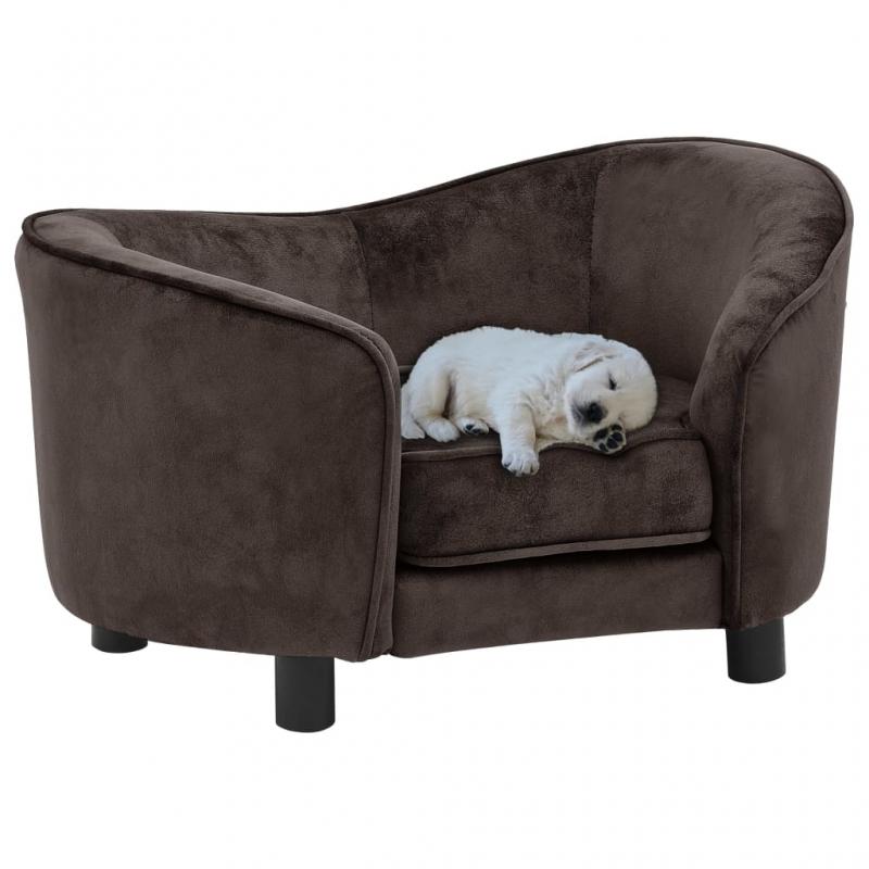 Hundesofa Braun 69x49x40 cm Plüsch