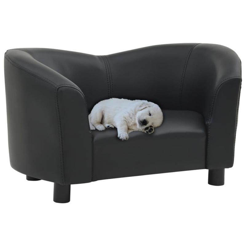 Hundesofa Schwarz 67x41x39 cm Kunstleder
