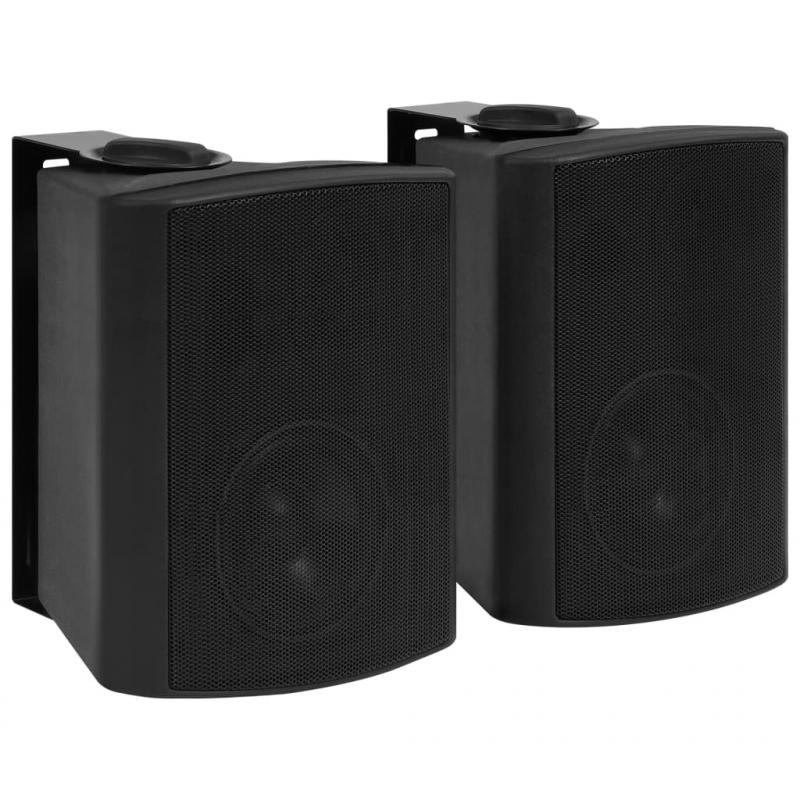 Wandlautsprecher Stereo 2 Stk. Schwarz Indoor Outdoor 100 W