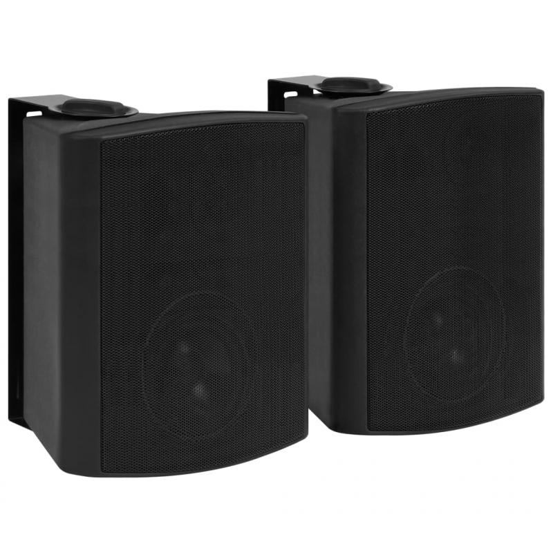 Wandlautsprecher Stereo 2 Stk. Schwarz Indoor Outdoor 120 W