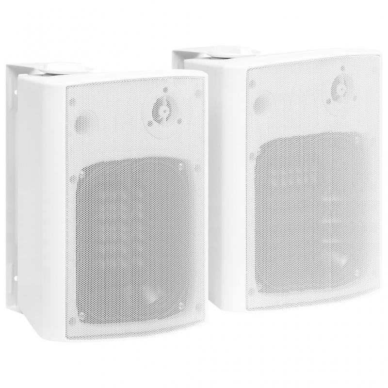 Wandlautsprecher Stereo 2 Stk. Weiß Indoor Outdoor 120 W