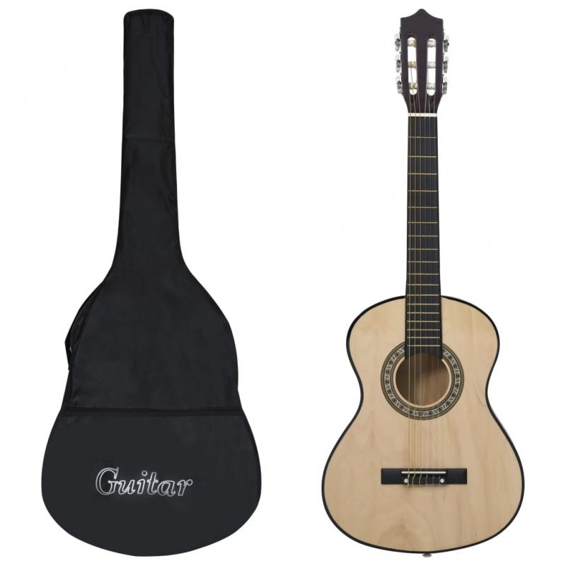 Klassikgitarre für Anfänger und Kinder mit Tasche 1/2 34