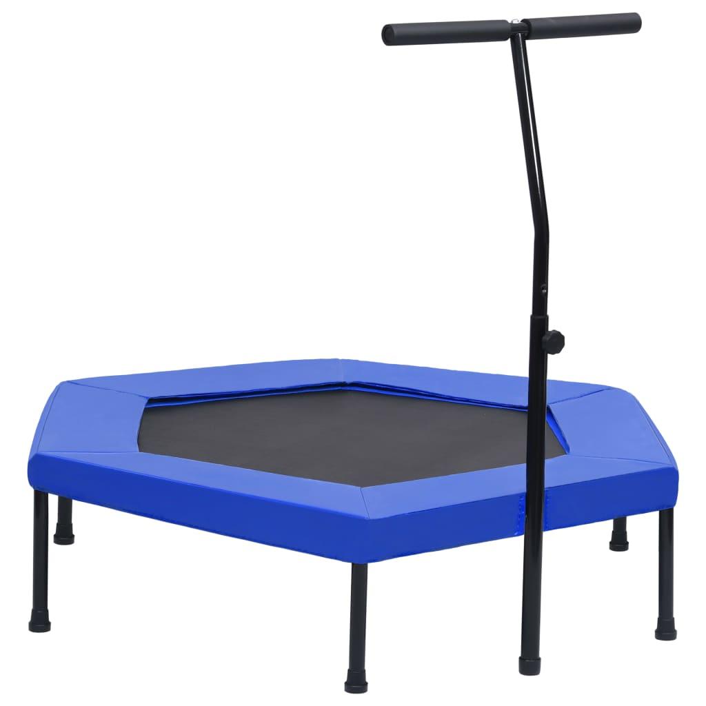 Fitness Trampolin mit Griff Sicherheitspolster Sechseck 122 cm