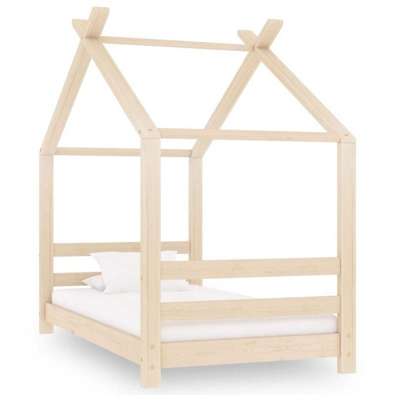 Kinder-Bettgestell Massivholz Kiefer 70x140 cm