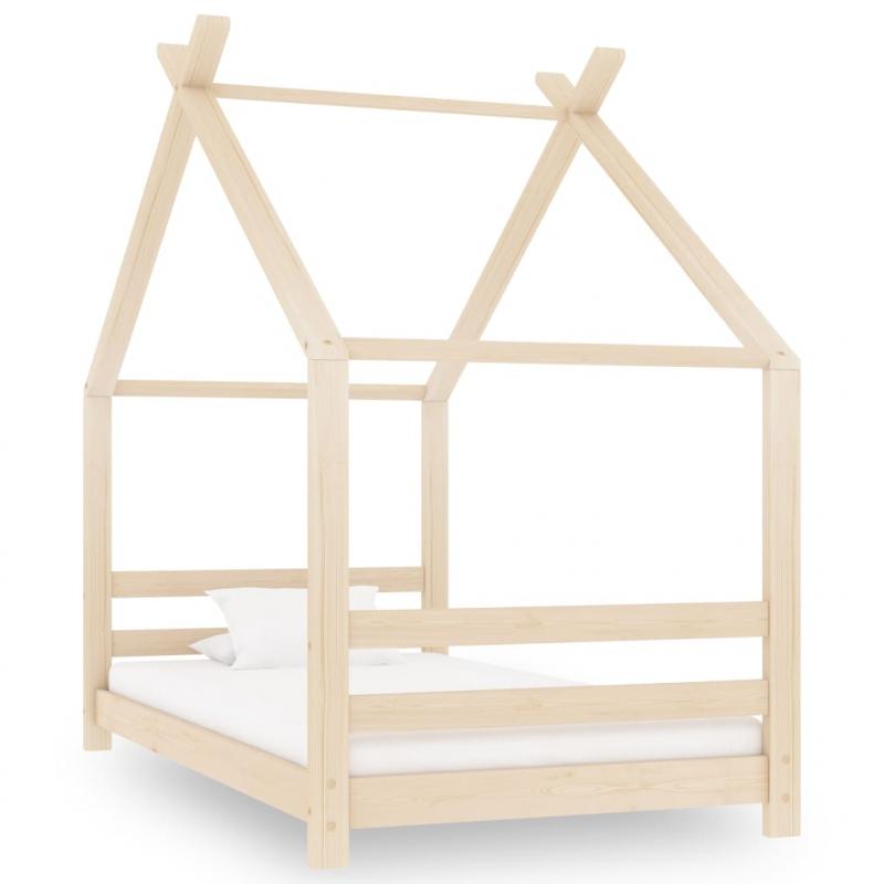Kinder-Bettgestell Massivholz Kiefer 80x160 cm