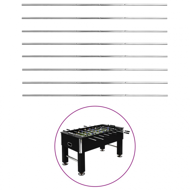 Stangen für Tischfußball 8 Stk. 15,9 mm