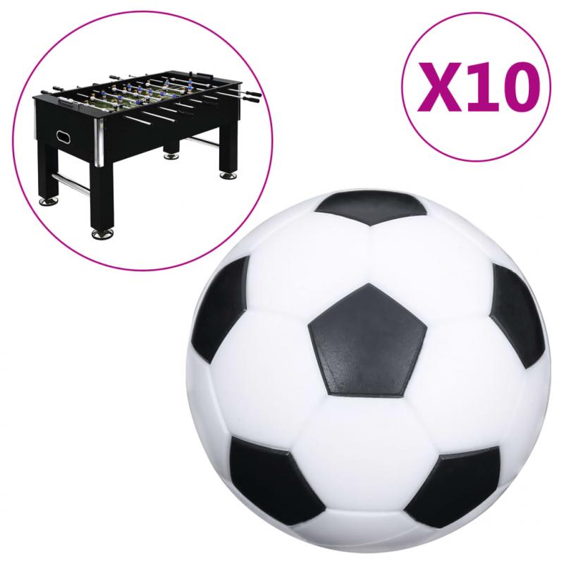 Tischfußball-Bälle 10 Stk. 32 mm ABS