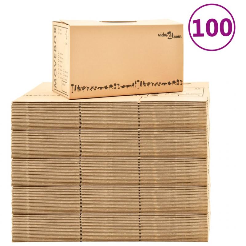 Umzugskartons XXL 100 Stk. 60×33×34 cm