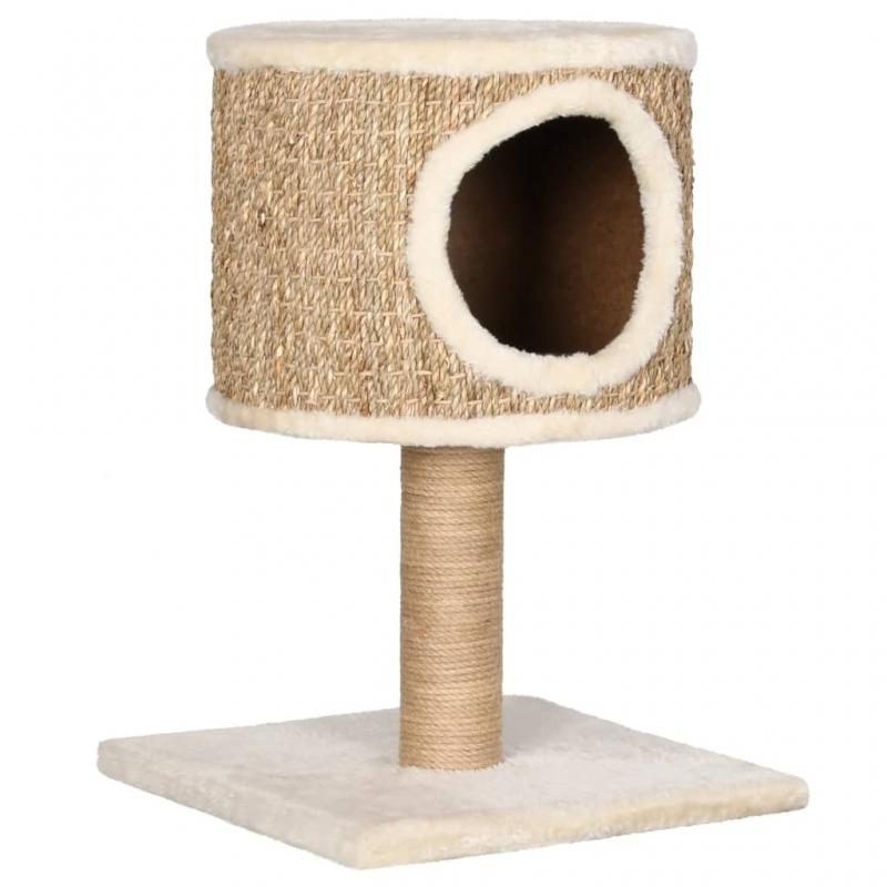 Katzen-Kratzbaum mit Katzenhöhle 52 cm Seegras