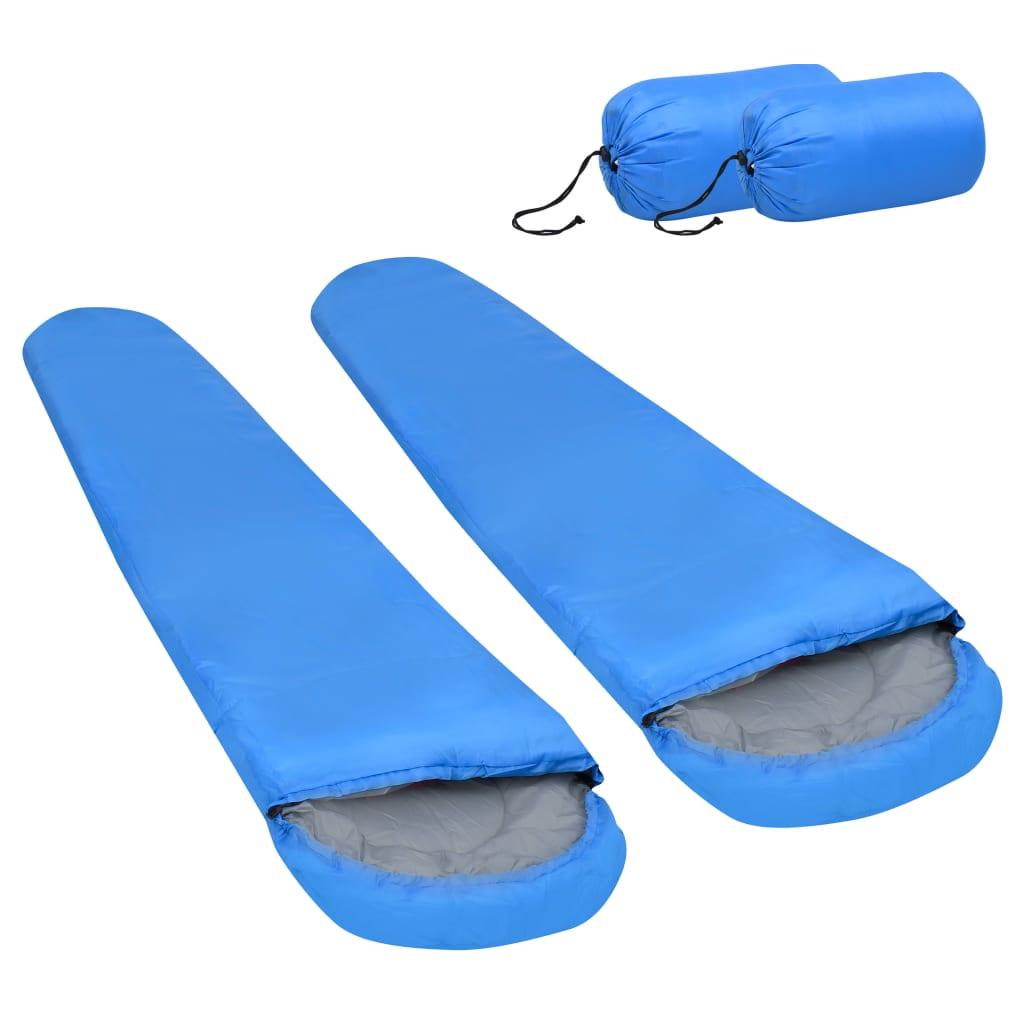 Leichte Schlafsäcke 2 Stk. Blau 15? 850g