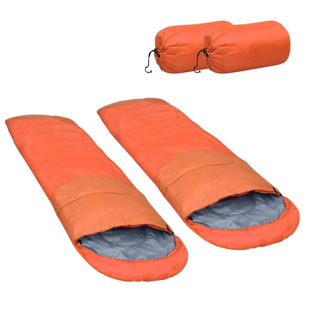 Leichte Schlafsäcke 2 Stk. Orange 15? 850g