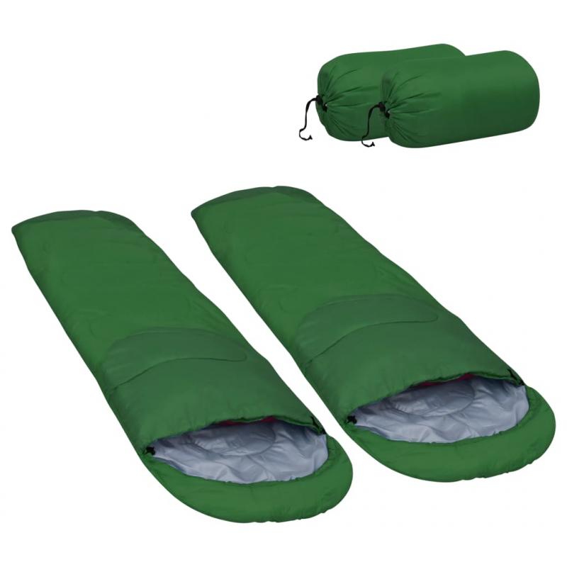 Leichte Schlafsäcke 2 Stk. Grün 15? 850g