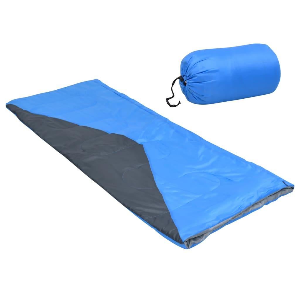 Leichte Umschlag-Schlafsäcke 2 Stk. Blau 1100g 10°C