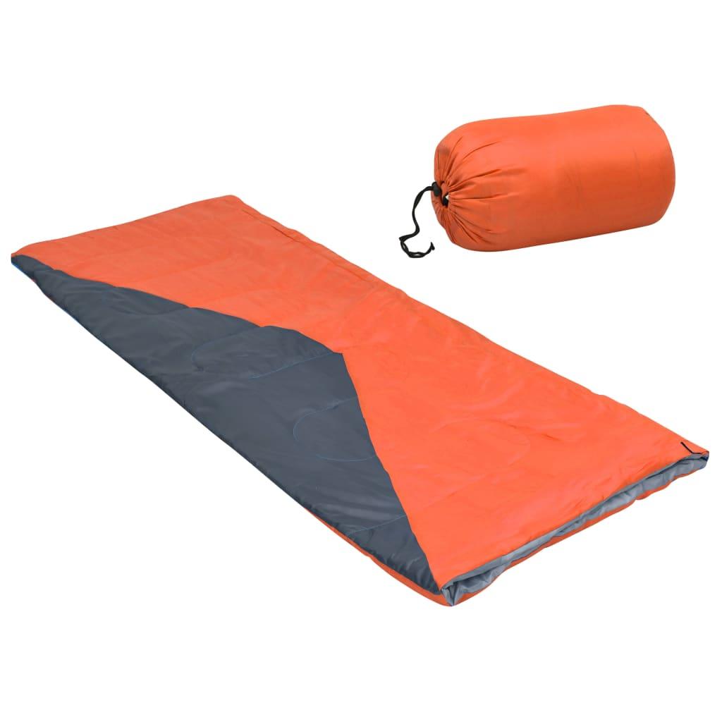 Leichte Umschlag-Schlafsäcke 2 Stk. Orange 1100g 10°C