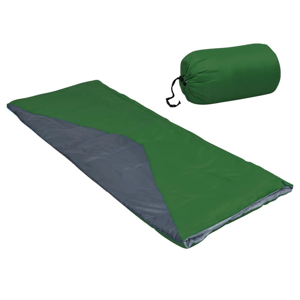 Leichter Umschlag-Schlafsack Grün 1100g 10°C