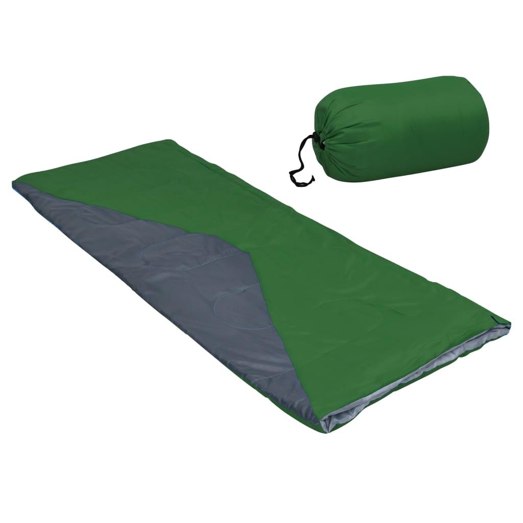 Leichte Umschlag-Schlafsäcke 2 Stk. Grün 1100g 10°C
