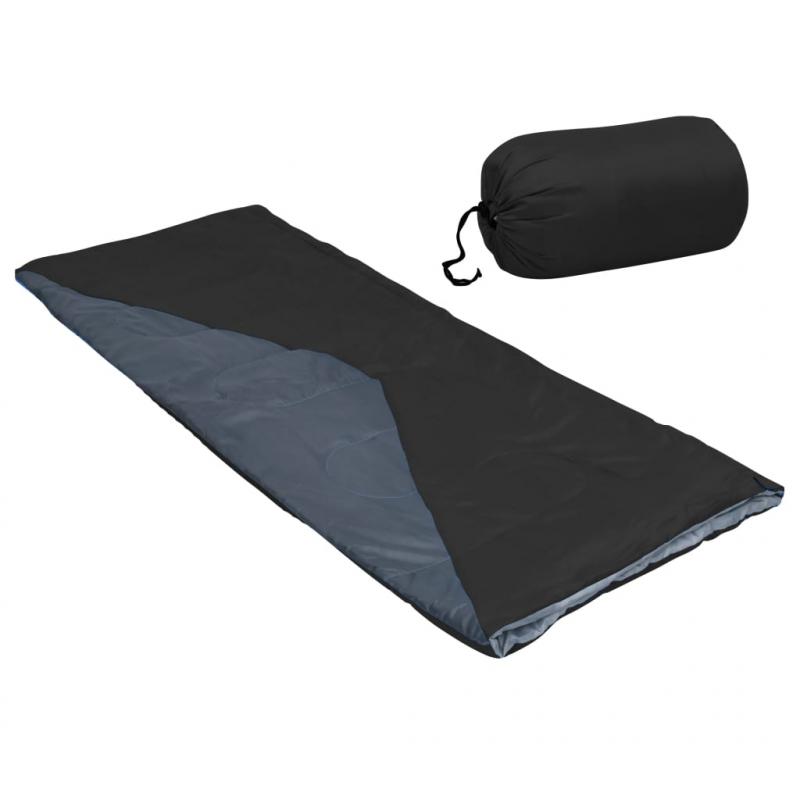 Leichter Umschlag-Schlafsack Schwarz 1100g 10°C
