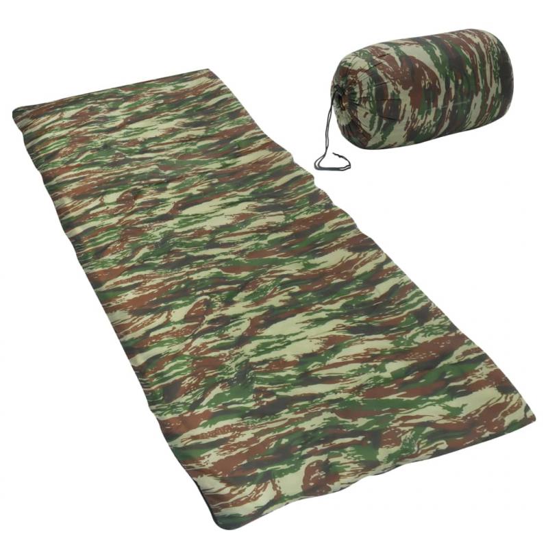 Leichter Umschlag-Schlafsack Camouflage 1100g 10°C