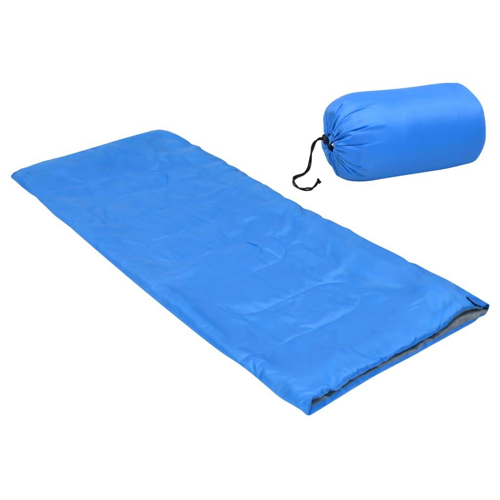 Leichter Umschlag-Schlafsack für Kinder Blau 670g 15°C