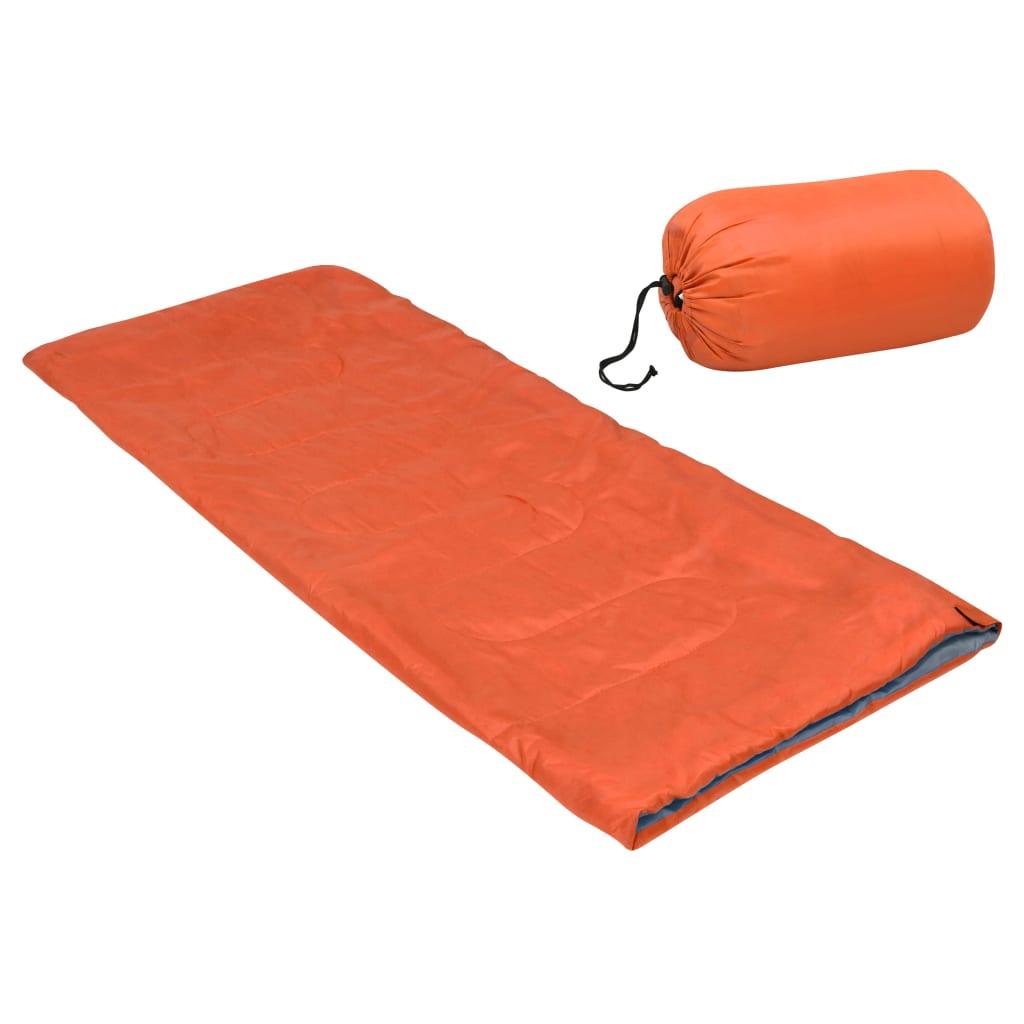 Leichter Umschlag-Schlafsack für Kinder Orange 670g 15°C