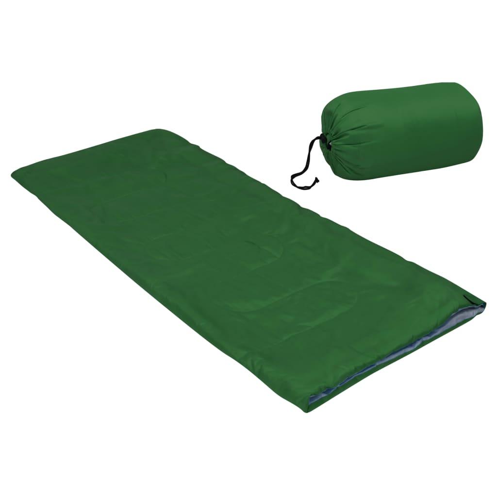 Leichter Umschlag-Schlafsack für Kinder Grün 670g 15°C