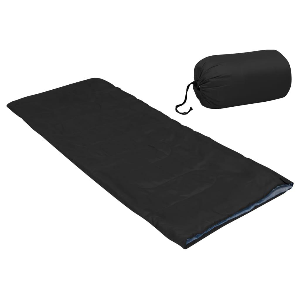 Leichter Umschlag-Schlafsack für Kinder Schwarz 670g 15°C