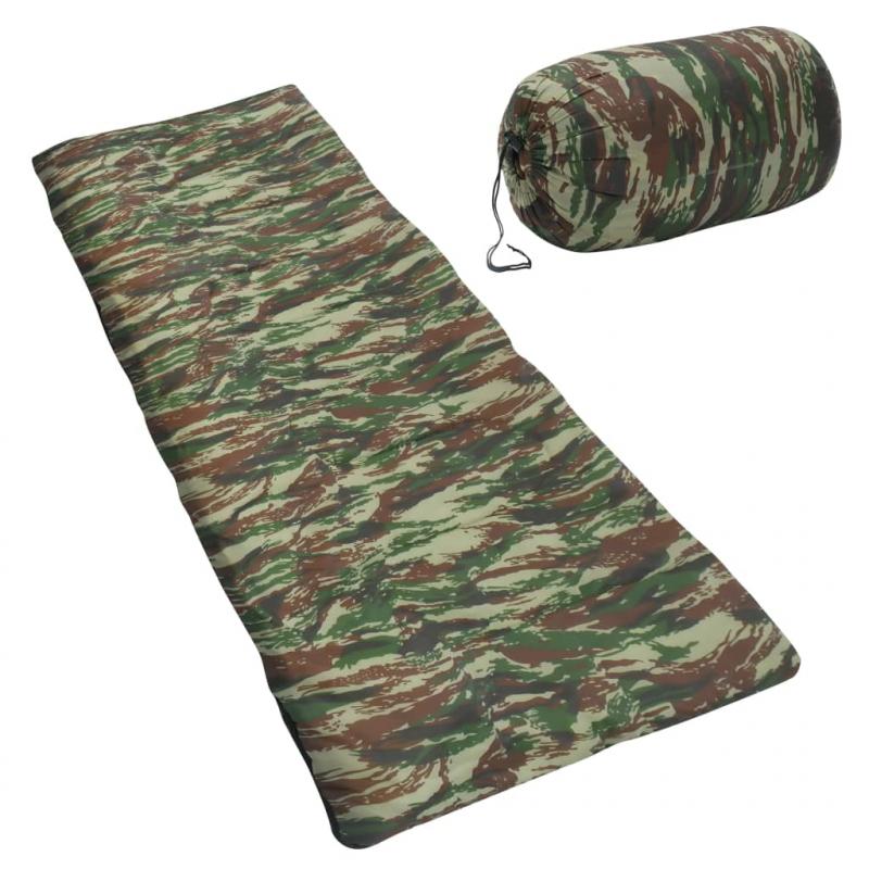 Leichter Umschlag-Schlafsack für Kinder Camouflage 670g 15°C