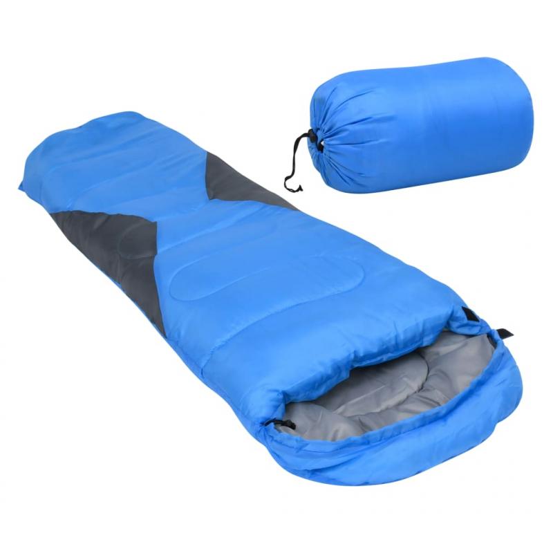 Leichter Mumienschlafsack für Kinder Blau 670g 10°C