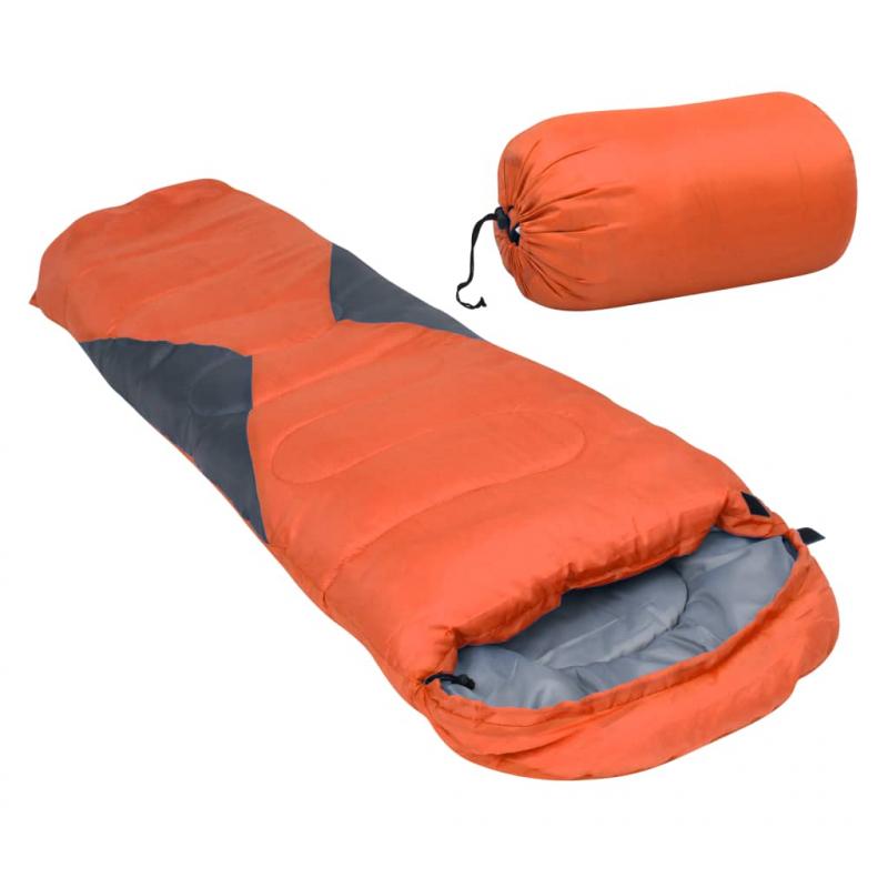Leichter Mumienschlafsack für Kinder Orange 670g 10°C