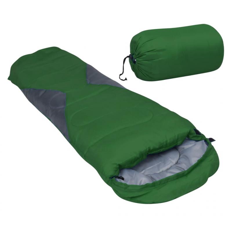 Leichter Mumienschlafsack für Kinder Grün 670g 10°C
