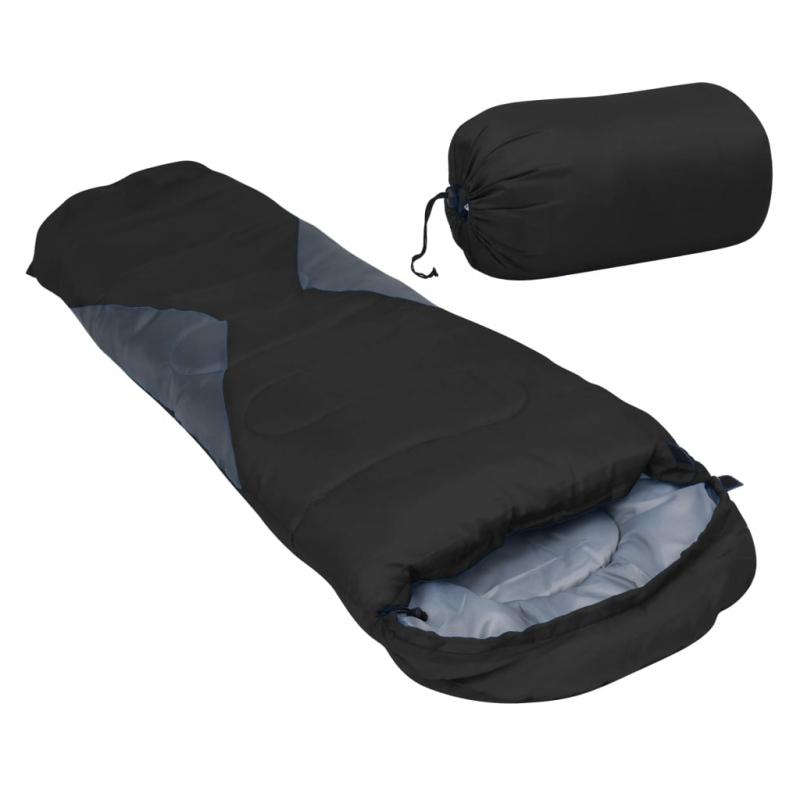 Leichter Mumienschlafsack für Kinder Schwarz 670g 10°C