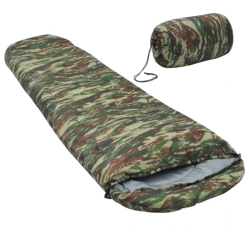 Leichter Mumienschlafsack für Kinder Camouflage 670g 10°C