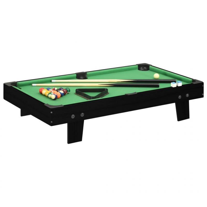 3-Fuß Mini-Billardtisch 92x52x19 cm Schwarz und Grün