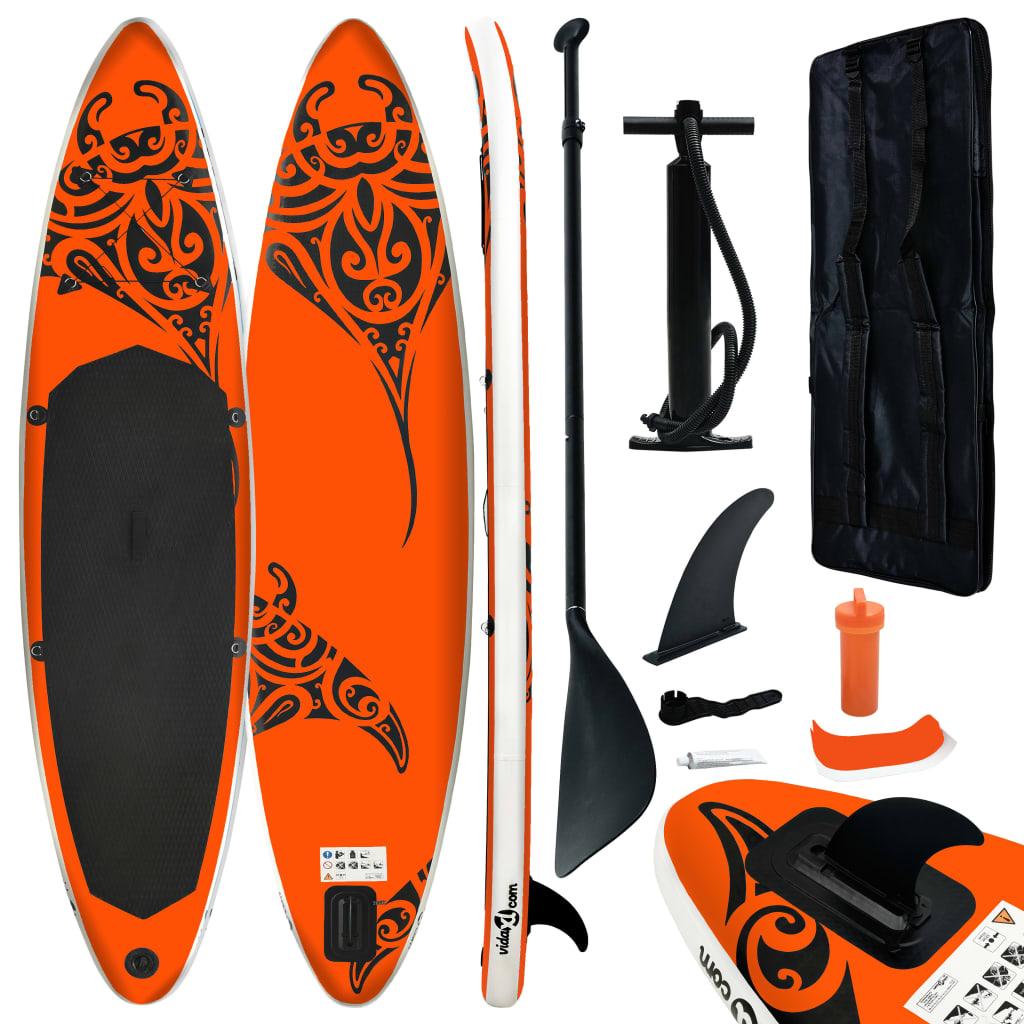 Aufblasbares Stand Up Paddle Board Set 320x76x15 cm Orange