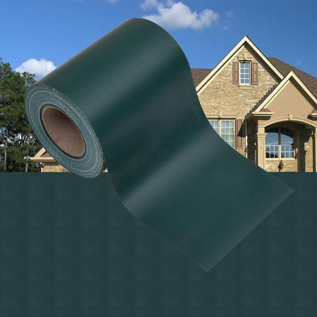 Garten-Sichtschutz PVC 35x0,19 m Mattgrün