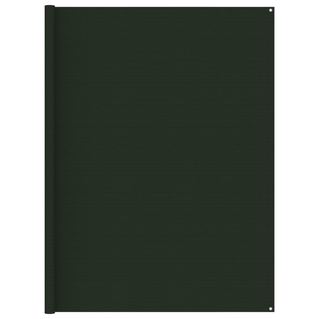 Zeltteppich 250x250 cm Dunkelgrün