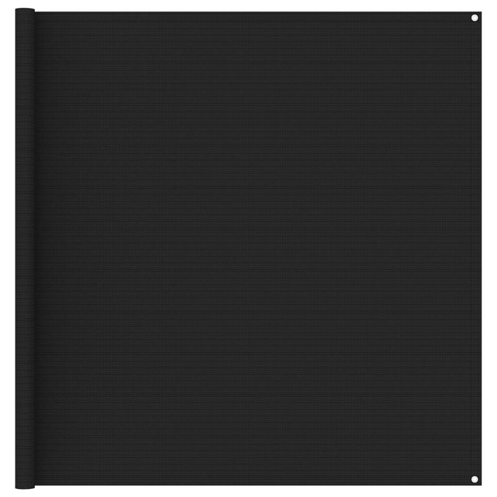 Zeltteppich 200x200 cm Schwarz