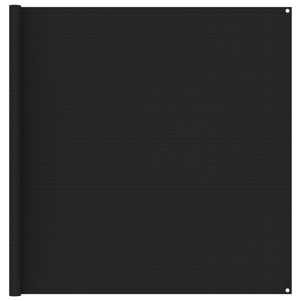 Zeltteppich 200x400 cm Schwarz