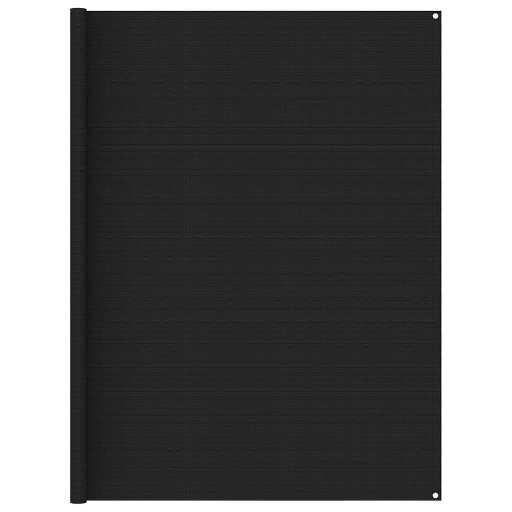 Zeltteppich 250x350 cm Schwarz