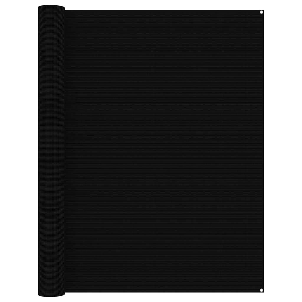 Zeltteppich 250x400 cm Schwarz