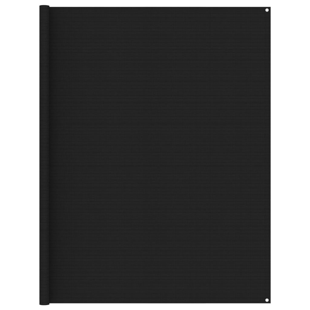 Zeltteppich 250x550 cm Schwarz