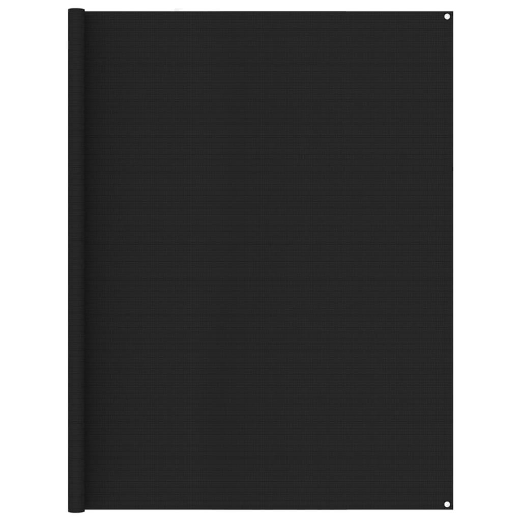 Zeltteppich 250x600 cm Schwarz